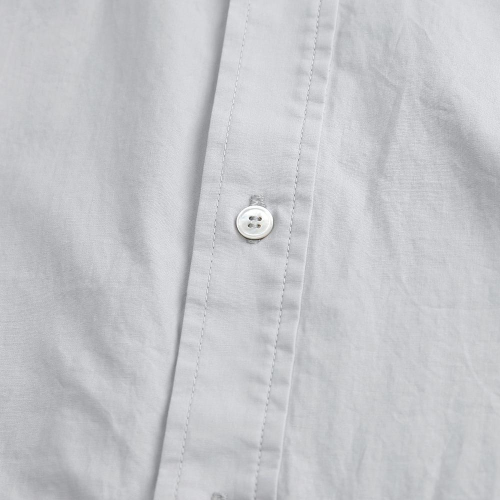 노드스튜디오(NORD STUDIO) (unisex) COZY 2-POCKET SHIRT(LONG)_GREY