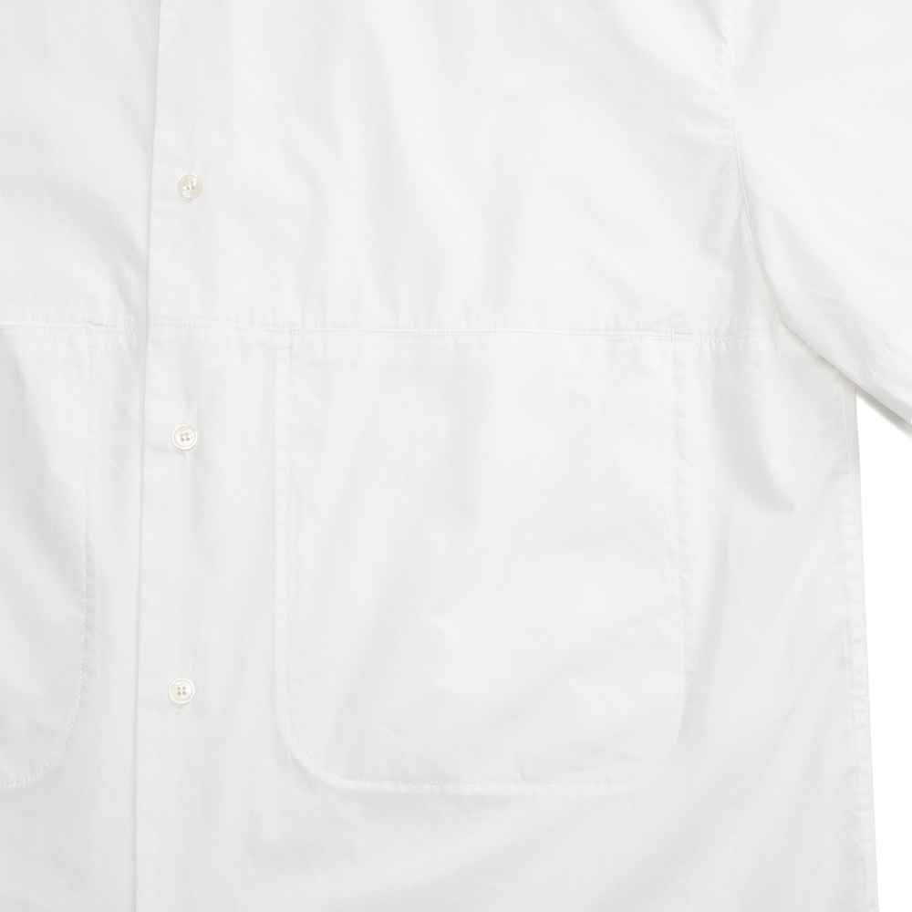 노드스튜디오(NORD STUDIO) (unisex) COZY 2-POCKET SHIRT(HALF)_WHITE